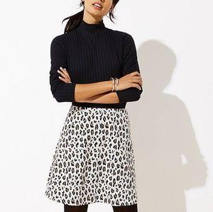 NWT Ann Taylor Loft Leopard Print Flippy Skirt XS